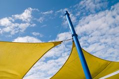 Yellow pleasure. With blue sky Stock Photo