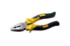 Yellow pliers Royalty Free Stock Photo