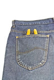 Yellow pliers in pocket jeans Royalty Free Stock Photo