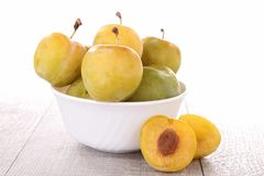 Yellow plum Stock Photography