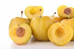 Yellow plum Stock Photos