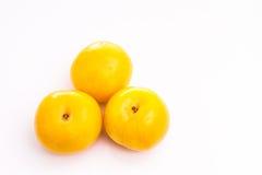 Yellow plum Stock Image