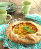 Yellow plum galette Royalty Free Stock Image