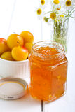 Yellow plum marmalade Royalty Free Stock Image