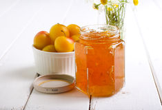 Yellow plum marmalade Royalty Free Stock Images