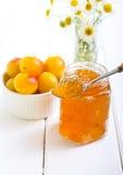 Yellow plum marmalade Stock Photo