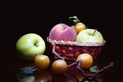 Yellow plum Peach apple  . Royalty Free Stock Photos