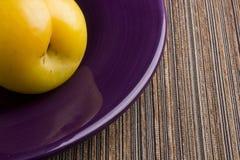 Yellow plum Stock Photography