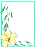 Yellow Plumeria Border2 Royalty Free Stock Photography