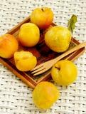 Yellow Plums Stock Photos