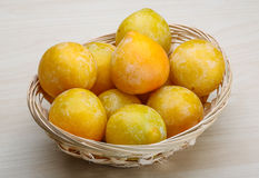 Yellow plums Royalty Free Stock Image