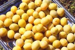 Yellow plums close up. Sweet ripe fruits. Yellow plums close up. Sweet ripe and overripe fruits stock photo