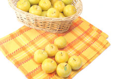Yellow plums Stock Photography