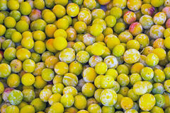 Yellow plums for sale at a market Stock Photography