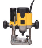 Yellow plunge router. Royalty Free Stock Photos