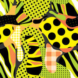 Yellow plural pattern Stock Photos