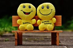 Yellow Plush Toy Royalty Free Stock Photography