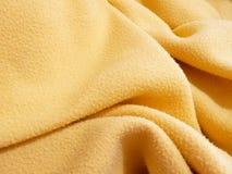 Yellow polar fleece fabric Royalty Free Stock Photo