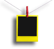 Yellow polaroid Royalty Free Stock Photography