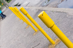 Yellow poles Royalty Free Stock Image