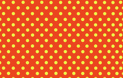 Yellow polka dot with orange background Royalty Free Stock Photos