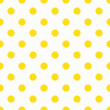 Yellow Polka Dot Pattern Stock Photos