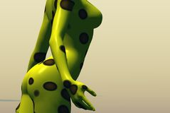 Yellow polka dots. Graphic background Royalty Free Stock Photo