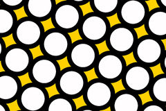 Yellow polka dots background Stock Photography