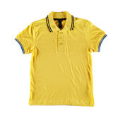 Yellow polo shirt Stock Photo
