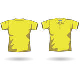 Yellow polo shirt. A men polo shirt template Royalty Free Stock Images