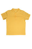 Yellow polo shirt isolated on white Royalty Free Stock Photos