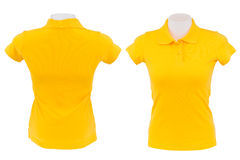 Yellow polo shirt on white background Stock Image