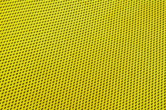 Yellow polyester fabric Stock Image