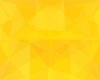 Yellow polygon abstract background. Stock Photo