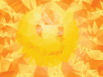 Yellow Polygonal Background. Bright background made of yellow, orange and red polygons Stock Photography