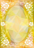 Yellow polygonal border Royalty Free Stock Image
