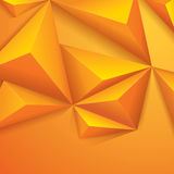 Yellow polygonal design. Polygonal background for card design, page design, leaflet, brochure, flyer or magazine page design Stock Photos