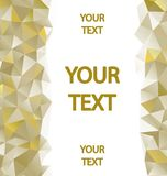 Yellow polygons background Royalty Free Stock Images