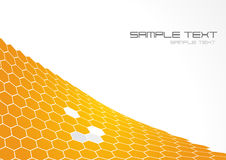 Yellow polygons. Vector art Stock Photos