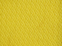 Yellow polyurethane rug Royalty Free Stock Image