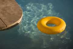 Yellow Pool Tube Stock Images