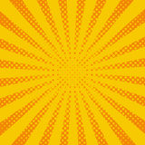 Yellow pop art rays, vector background Stock Image