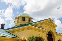 Yellow Port Building in St Kitts Stock Image