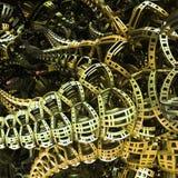 Yellow Portal To Next World Fractal Concept Royalty Free Stock Photos
