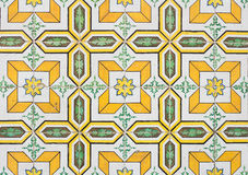 Yellow portugal tiles closeup Stock Photo