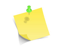 Post-it. Yellow pos-it on white background Royalty Free Stock Photography