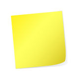 Yellow Post-It Stock Photo