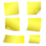 Yellow Post-It Stock Photography