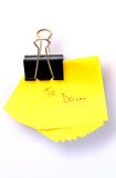 Yellow post it Stock Image