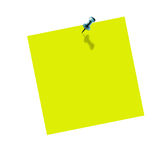 Yellow post it. On white background Royalty Free Stock Images